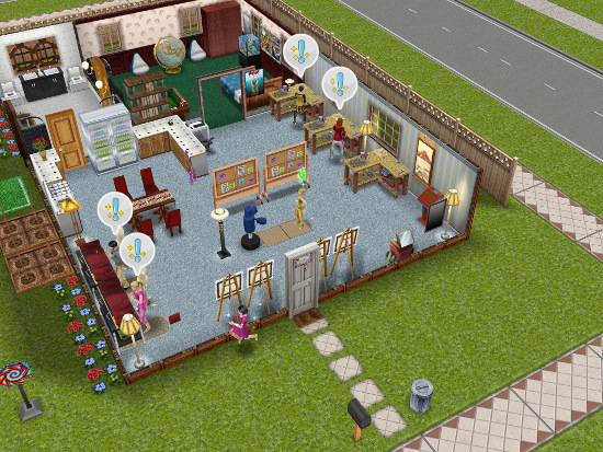 Courtesy houses lots the sims freeplay - Sims freeplay designer home ...