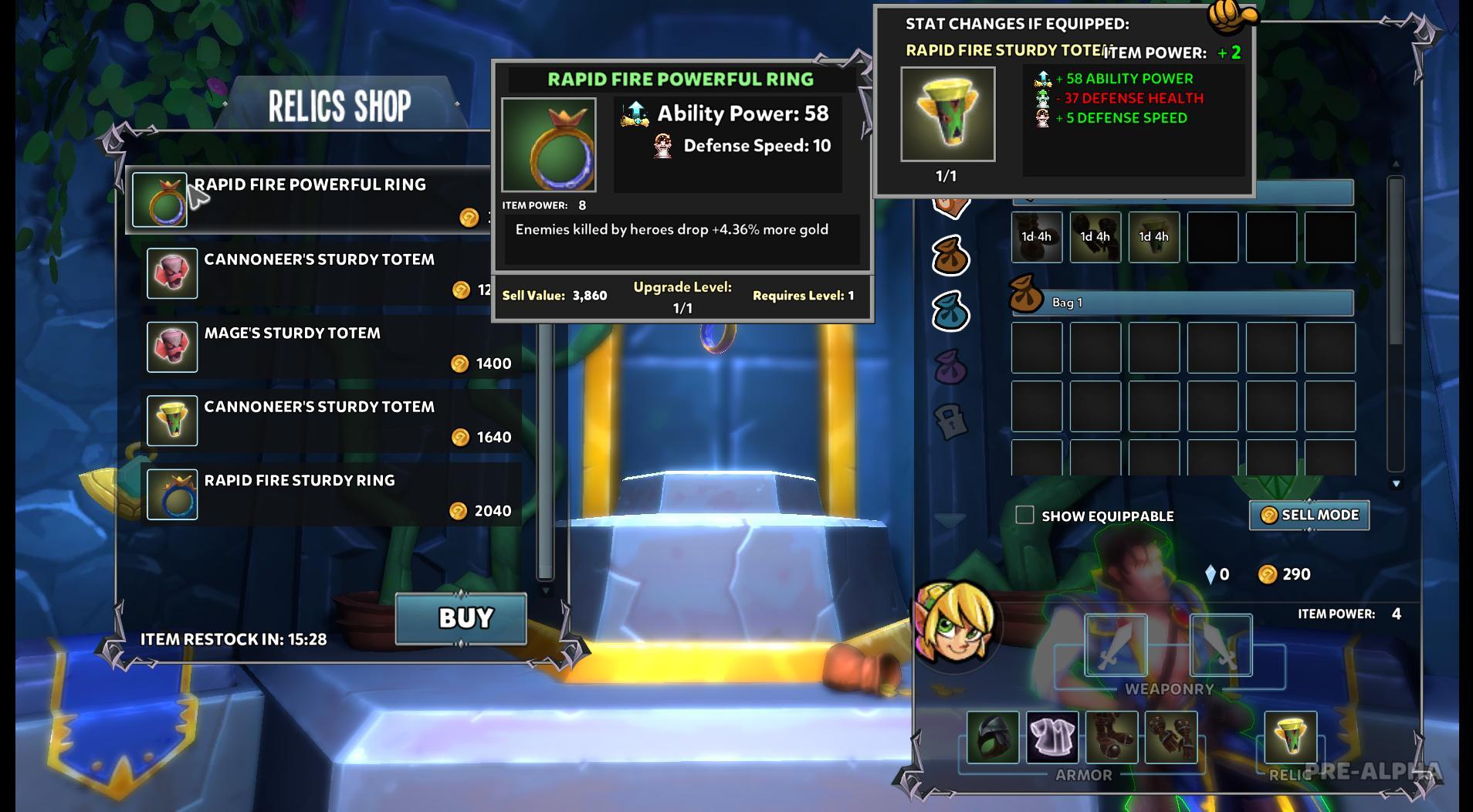 item must be upgraded to grandmaster level to unlock bonuses