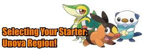 Choosing a starter pokemon the Unova Region