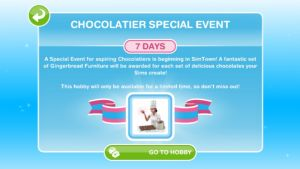 Chocolatier Hobby Event Starts