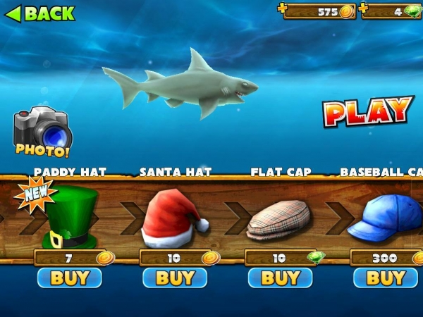 Items hungry shark for Tiger strike fish game cheats