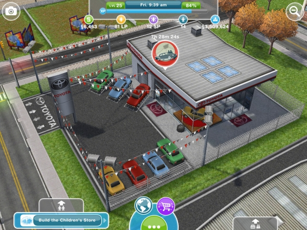 The Car Dealership - The Sims FreePlay