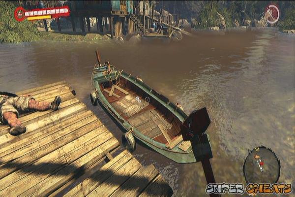где находится лодка в dead island riptide