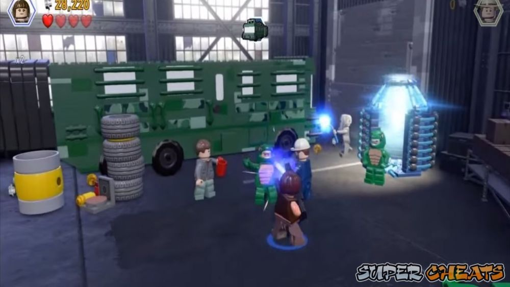 brontosaurus lego jurassic world how to open the door