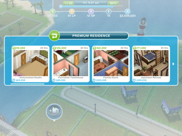 how to sell rooms on sims freeplay