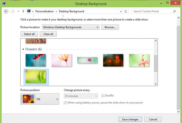 how to change highlight color in windows 8