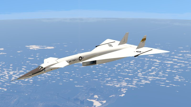 XB-70 Valkyrie (Mach 3 high speed bomber) Mod for Grand Theft Auto 5
