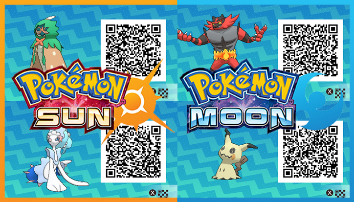 Pokemon QR Codes | Pokemon Sun