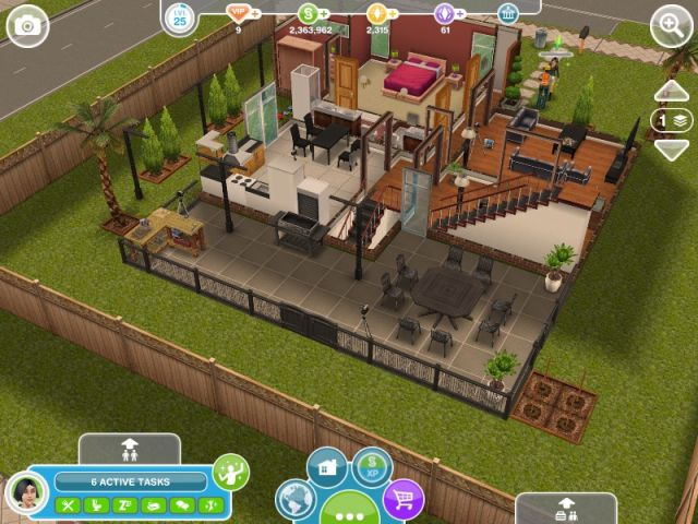 DIY Homes: Peaceful Patio - The Sims FreePlay