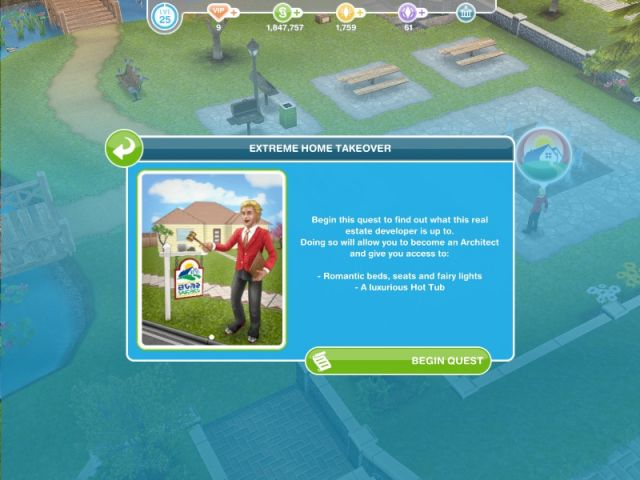 for your Sim Homes  If it a two day limited time Event  so if you can  complete it within the time limit  you will unlock the legendary Hot Tub. Extreme Home Takeover   The Sims FreePlay
