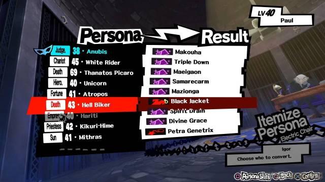 itemization list  persona 5