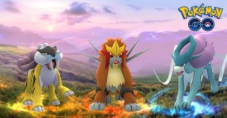 Legendary Beasts Rotated In Pokemon GO