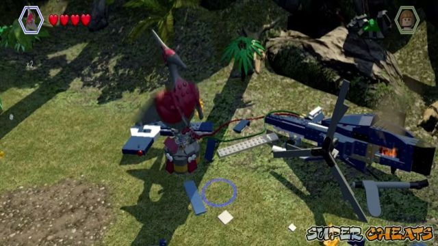 Workers in peril lego jurassic world worker 18 jurassic world isla nublar aviary summon a pternadon from the paddock and fly over to the helicopter crash site gumiabroncs Gallery