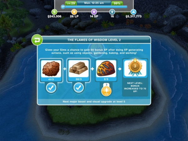The good news is that the randomly acquired resources stack up  so you can  build a large inventory towards the leveling up and expansion process. Mystery Island Event   The Sims FreePlay