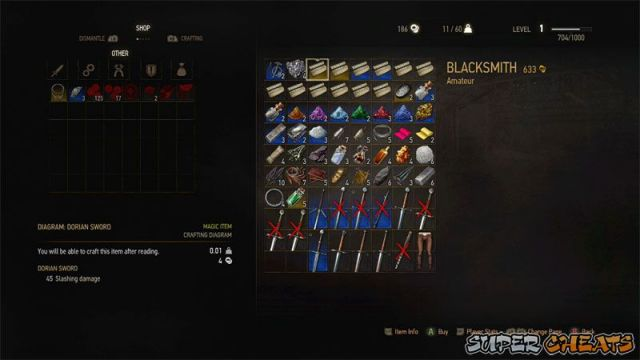 The menu scheme the witcher 3 the wild hunt the menu interface for merchants and other npcs that buy and sell with you contains their inventory on the right and yours in tabbed form on the left solutioingenieria Image collections